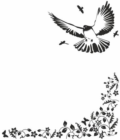 paloma caricatura: Paloma Negro