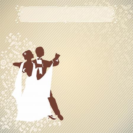 couple dancing: Fondo de la vendimia con un par