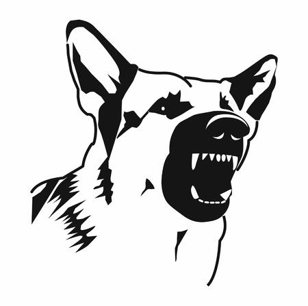 contour evil dog Ilustrace