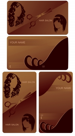 card for hairdresser Vector