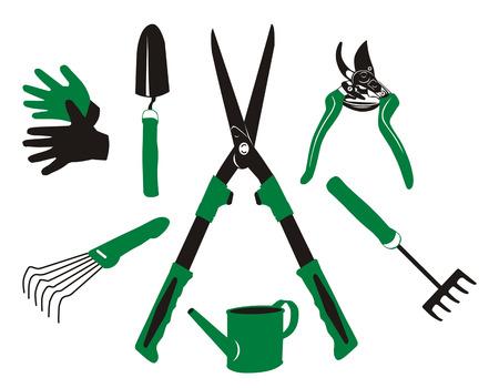 vector garden tools 일러스트