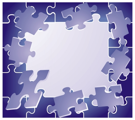 recess: frame with blue puzzles