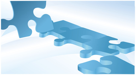 Blue vector background with puzzles Stock Vector - 23712122