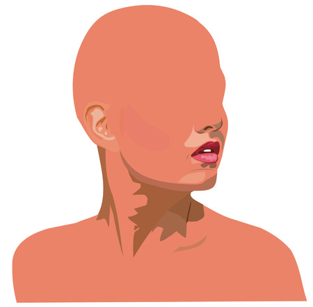 girls face without eyes