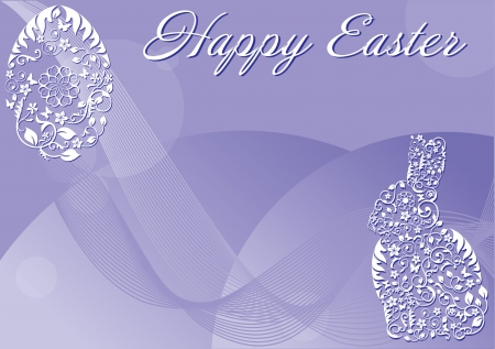 Easter purple background
