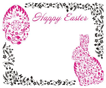sophistication: Marco de Pascua con el conejito y los huevos