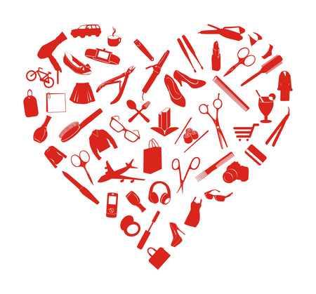 nail file: red heart made of small things women