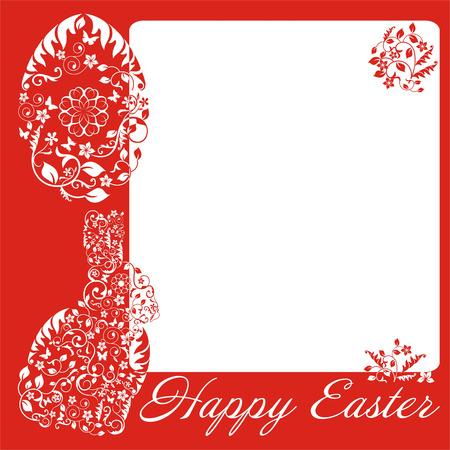 sophistication: sencillo marco rojo con el conejito de Pascua