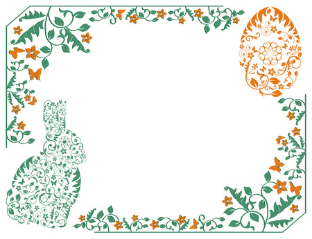 simple frame with Easter bunny Illustration