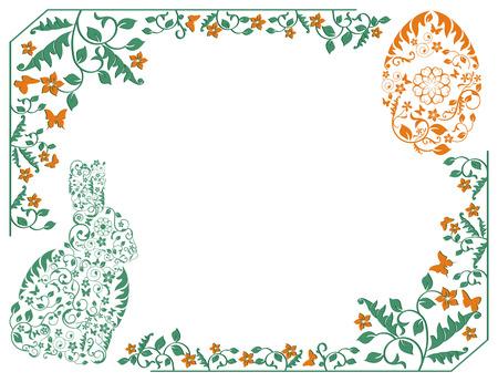 sophistication: simple marco con el conejito de Pascua Vectores
