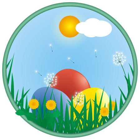 round easter background Vector
