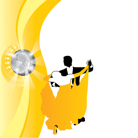 rout: couple dancing in yellow