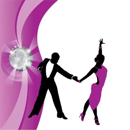 incendiary: dancing couple on background purpunom