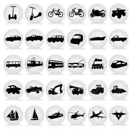 transport black icons