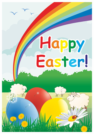 Easter colored vector background Vector