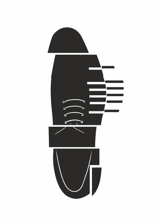 mens shoe cutout illustration  Vector