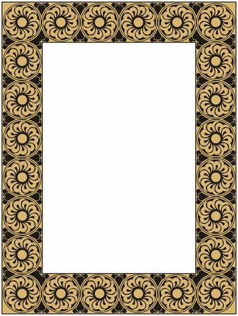 sophistication: oro vector y marco negro