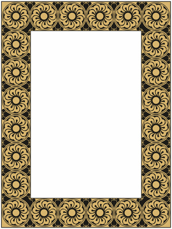 inviting: vector gold and black frame