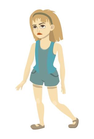 teenage girl in shorts Ilustração