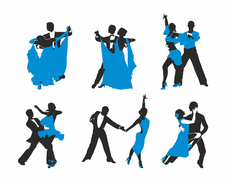 set dancing couples Vector