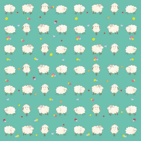 children's wallpaper with whitecaps Stock Vector - 29121869