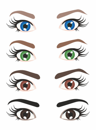 four eyes: four variants of different color eyes