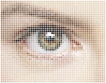 mosaic background of eye circles Vector