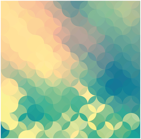 vector mosaic background and multicolored circles Vector