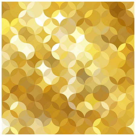 padded: vector mosaic background and multicolored circles