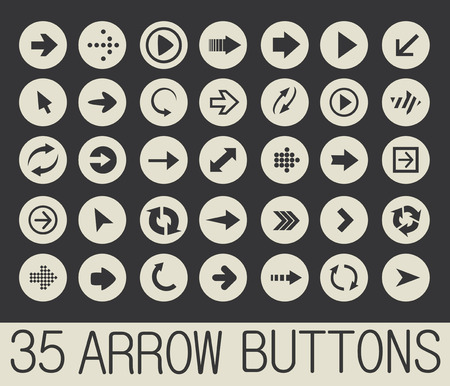 come up: 35 arrows buttons