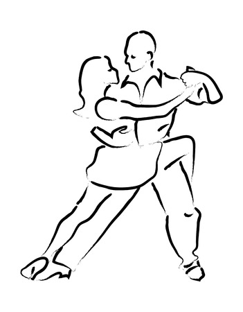 incendiary: simple loop dancing couple Illustration