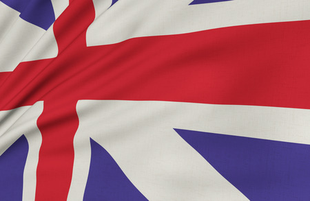 long term: the image of the flag of Great Britain in the long term