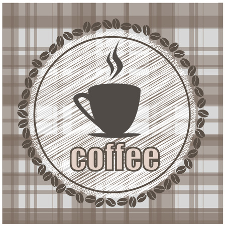coffee illustration design fabric texture vector Illustration