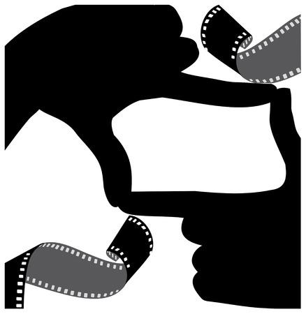 frame of hand-to-frame film Çizim