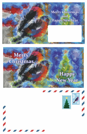 splashy: set of greeting Christmas letter Stock Photo