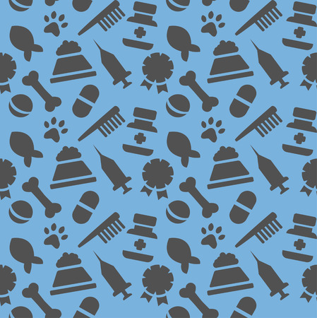 wallpaper with painted veterinary facilities  Vector