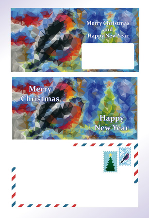 vector set of greeting Christmas letter