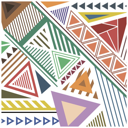 call history: abstract pattern of colorful geometric shapes