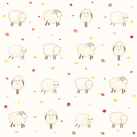 gentle background: wallpaper with lambs on a gentle background