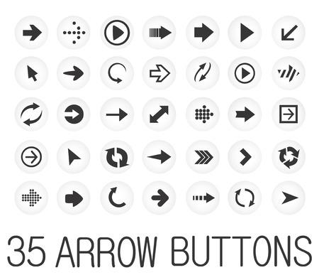 icone tonde: icone nere rotonde con le frecce