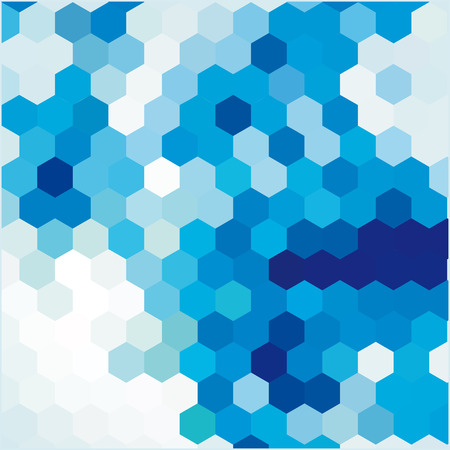 mutually: Vector blue background with cell
