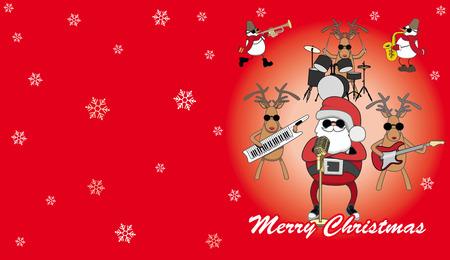 solo  christmas: red humorous Christmas card Illustration