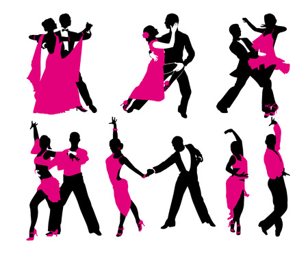 incendiary: vector set of six dancing couples