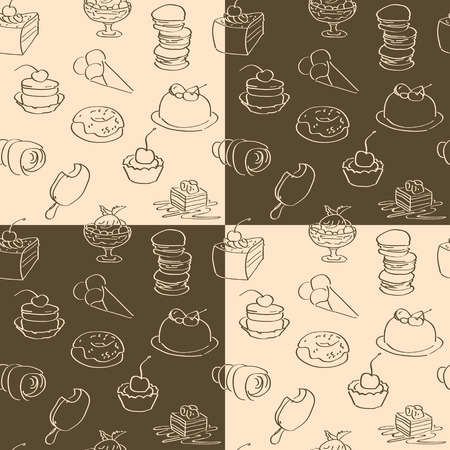 background  brown: dark and bright wallpaper with sweets Illustration
