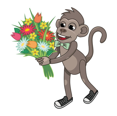 young one: animal flowers congratulates