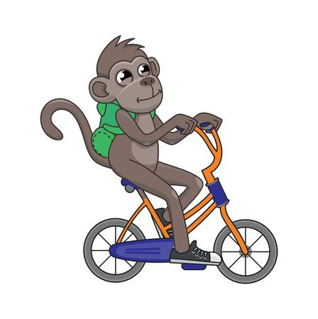 bag cartoon: vector illustration monkey resting Illustration