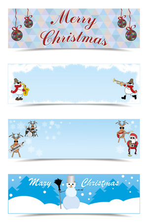 drizzle: vector set of Christmas greetings Illustration