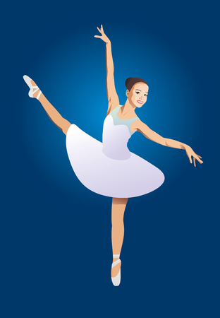 na: color image of a ballerina on a blue background