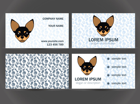kennel: set design for the decoration of a small veterinary clinic, kennel, breeder, shelter for animals on a blue background