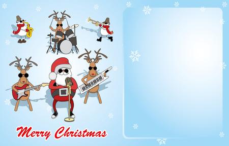 Santa, reindeer and snowmen perform.
